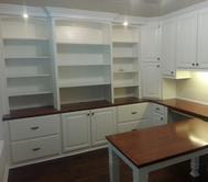 Custom made home office cabinets and furniture. Custom built-in shelving and desk. Sarasota, Venice, Longboat Key, Siesta Key, Lakewood Ranch, Bradenton, Englewood, Boca Grande, North Port, Port Charlotte, in your area, Florida