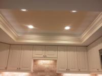 Tray ceiling in kitchen condo
