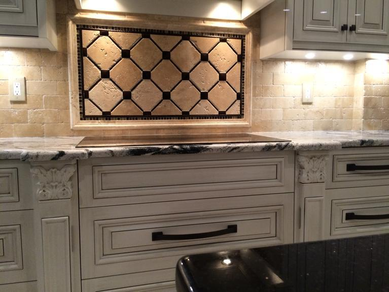 Custom made backsplash in Venice FL