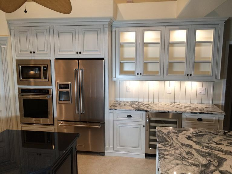 Custom made glass cabinets in Venice FL