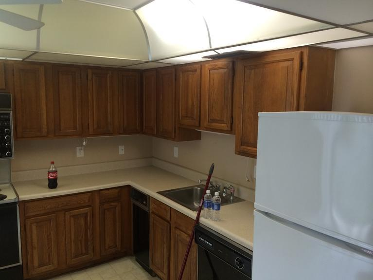 Drop ceiling lighting in kitchen removal