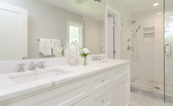 Complete bathroom remodel makeover in Sarasota Florida.