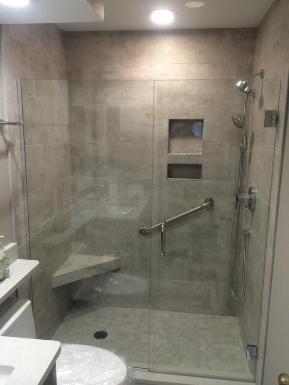 Shower transformation from tub to shower Sarasota FL