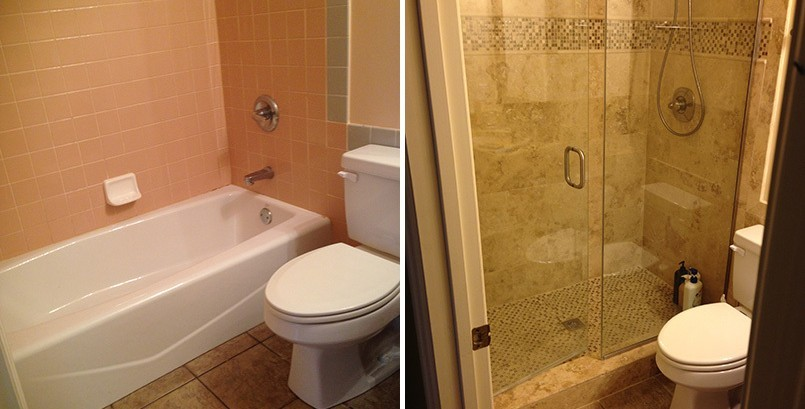 Advice on average costs and estimate to convert your bathtub to shower renovation and remodel with plumbing services and complete installation of your new walk-in accessible shower remodel with a bath wrap  in Sarasota, Venice, Longboat Key, Siesta Key, Lakewood Ranch, Nokomis, Osprey, Englewood, Boca Grande, North Port, Port Charlotte, In your area, in my area, Florida.