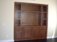 """Custom made home Entertainment Center Cabinets Longboat Key FL""."