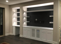 """Custom made home theater TV cabinets in Sarasota Florida""."