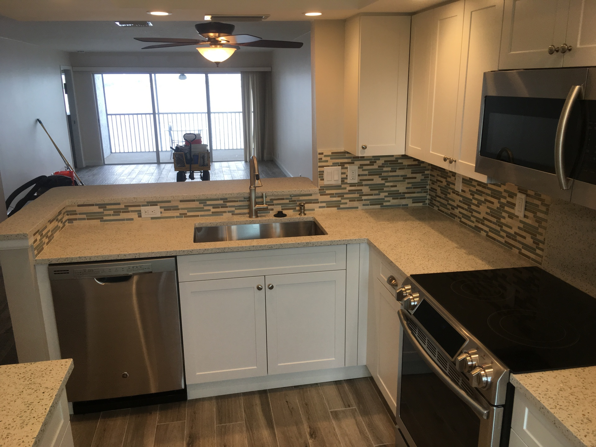 Beach condo kitchen remodel on Siesta Key.
