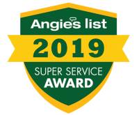 2019 Angie's List SUPER SERVICE AWARD for outstanding customer service. James Anderson LLC of Sarasota Florida