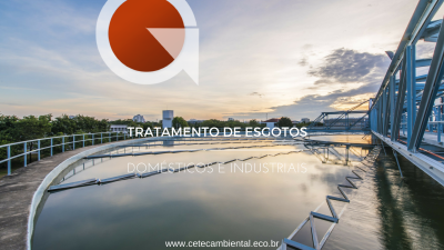 TRATAMENTO DE EFLUENTES DOMÉSTICOS E INDUSTRIAIS