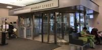 Revolving Door at Mount Sinai Hospital helps with traffic flow and energy conservation