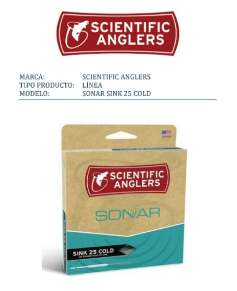 Scientific Anglers-linea SONAR SINK 25 COLD