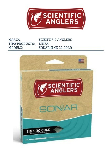 Scientific Anglers-línea SONAR SINK 30 COLD