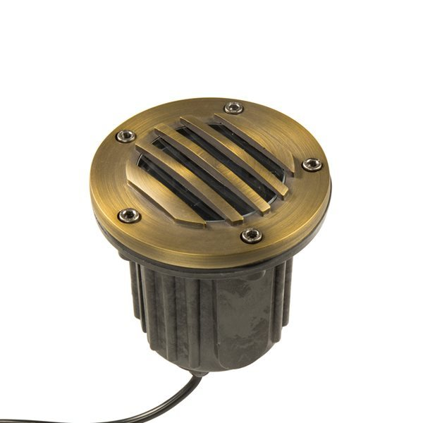 VOLT Brass Bully Grate MR16 In-Ground Well Light