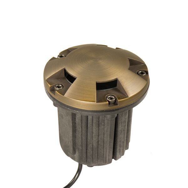 VOLT Brass Bully Turret Top MR16 In-Ground Well Light