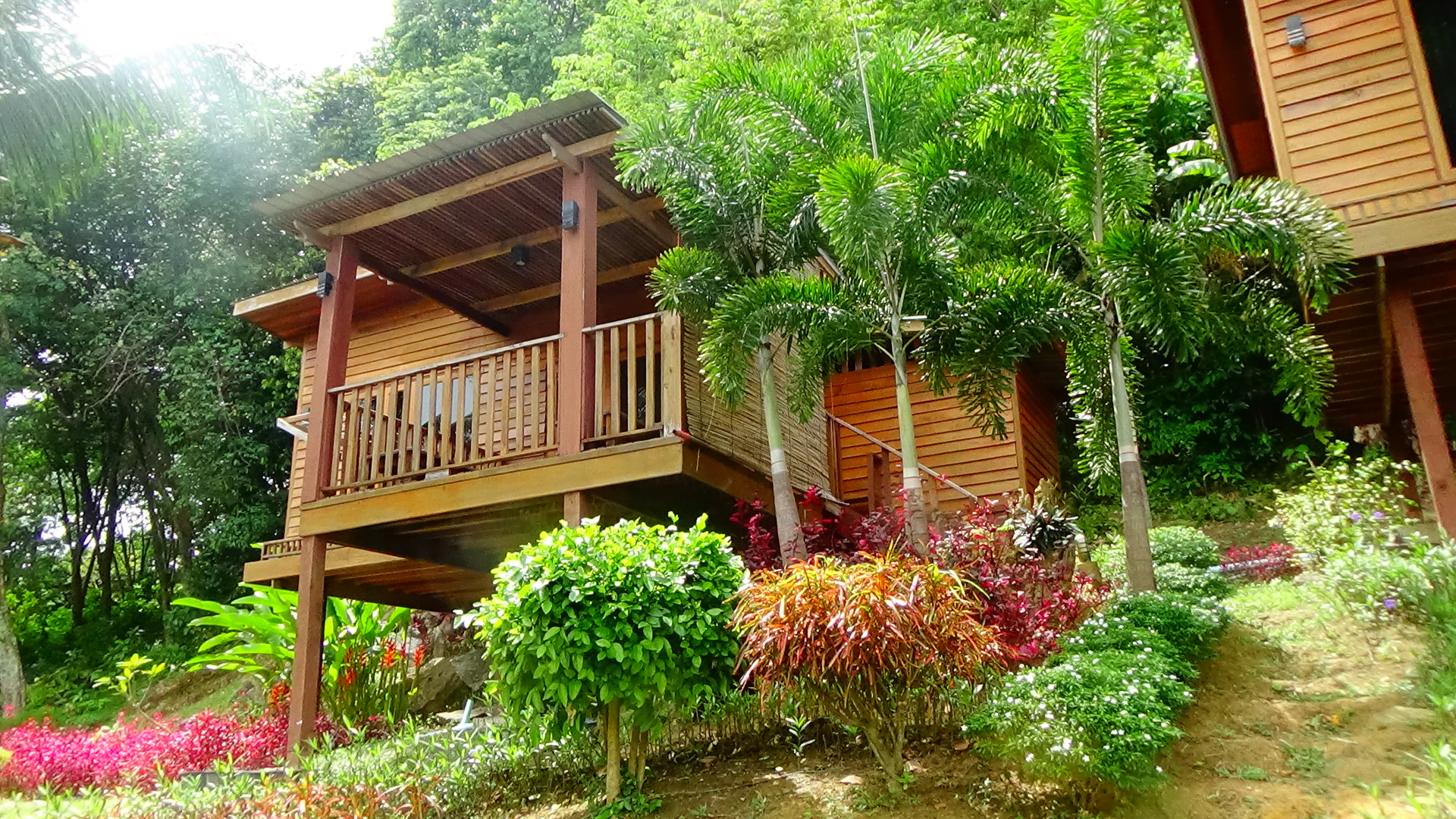 Hillside sea view bungalow with AC