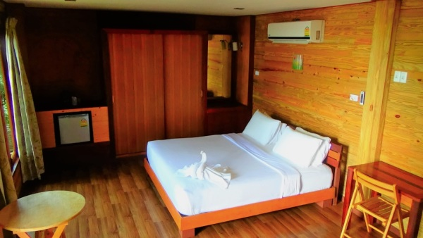 Bedroom in Hillside sea view bungalow with AC no.27 to no.30