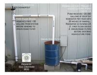 Pool to Pond -rainwater filtration before pond