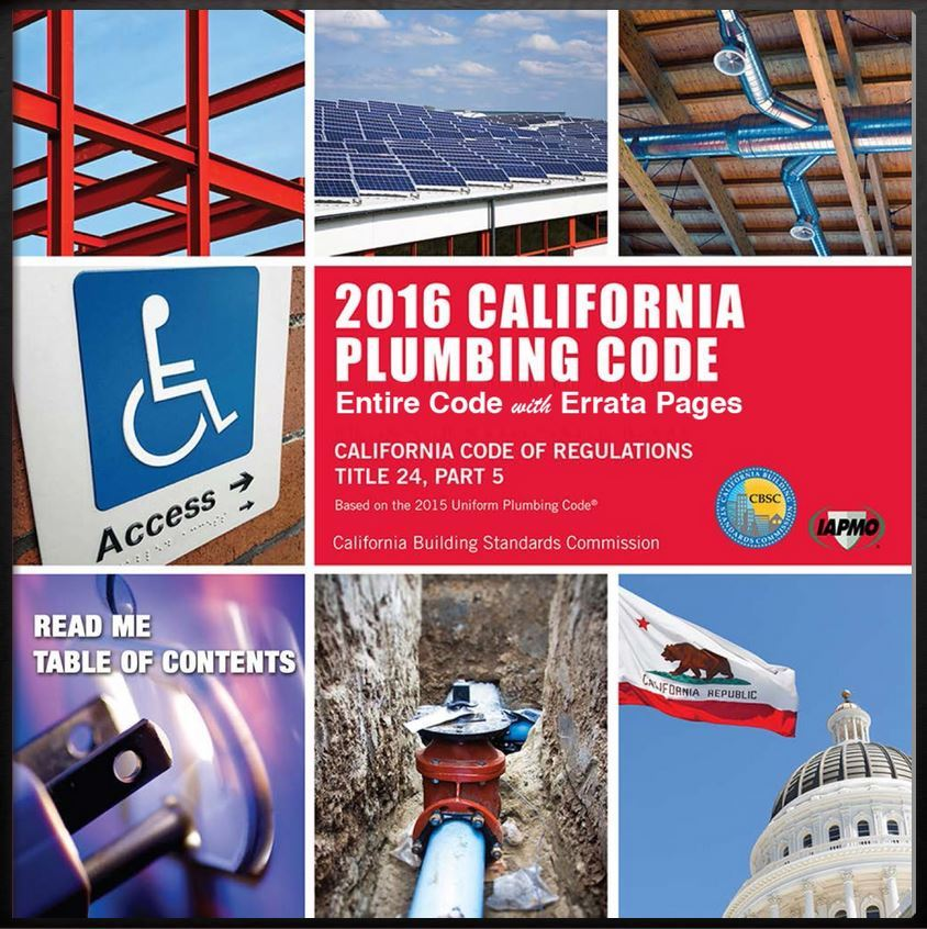 Chapter 16 of the California Plumbing Code (CPC)