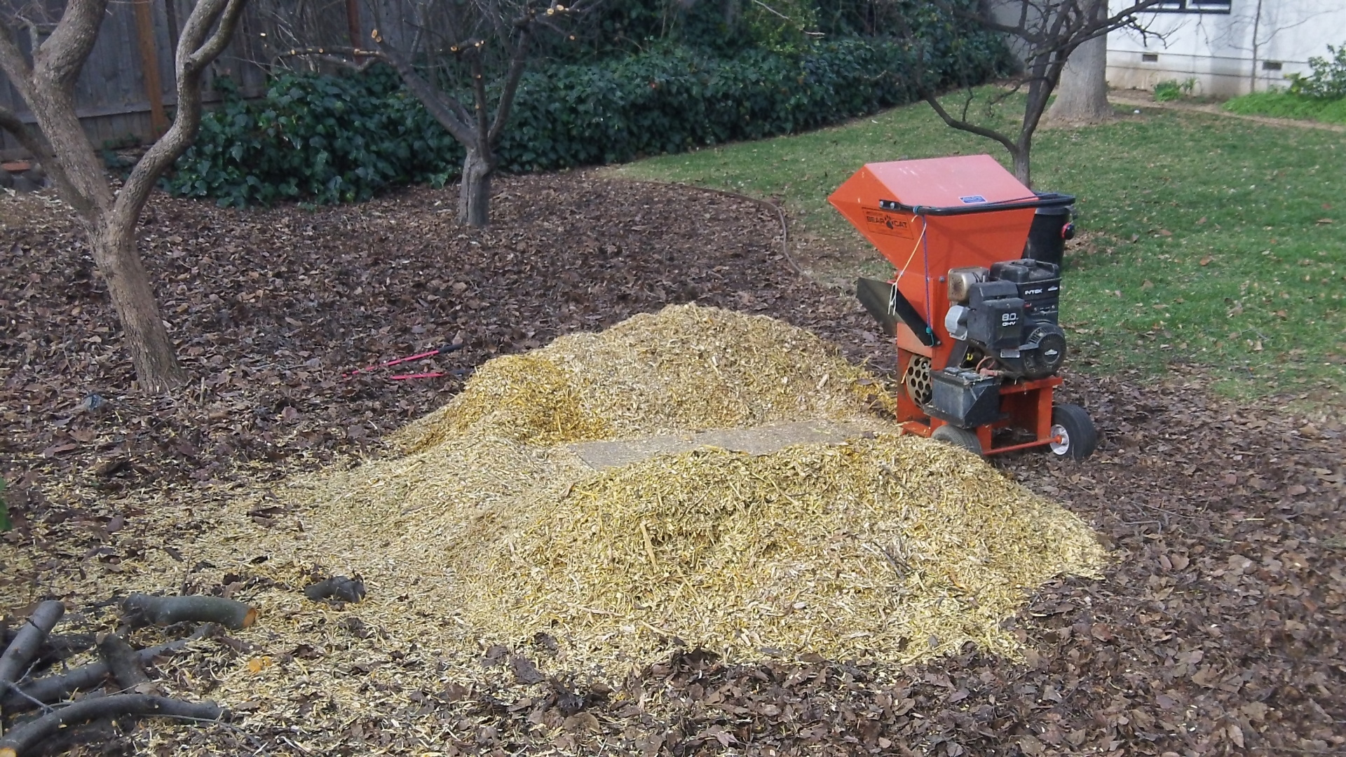 mulch on site -chipper/shredder