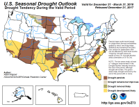 seasonal drought outlook dec-mar