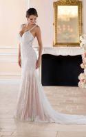 Low sheer back destination and garden bridal dress