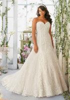 strapless plus size bridal dress sale