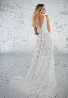 Lace Boho bridal dress for beach destination wedding