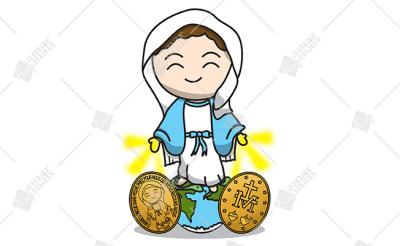 Nossa Senhora das Graças c/ medalhas - Cód.: 1232
