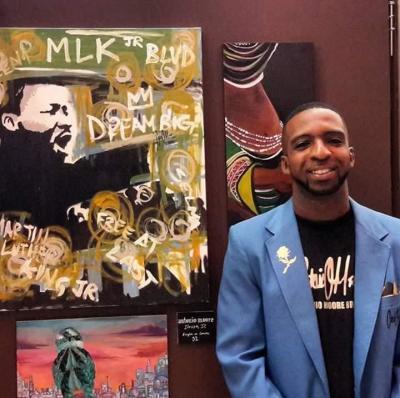 ANTONIO MOORE DONATING MLK PIECE