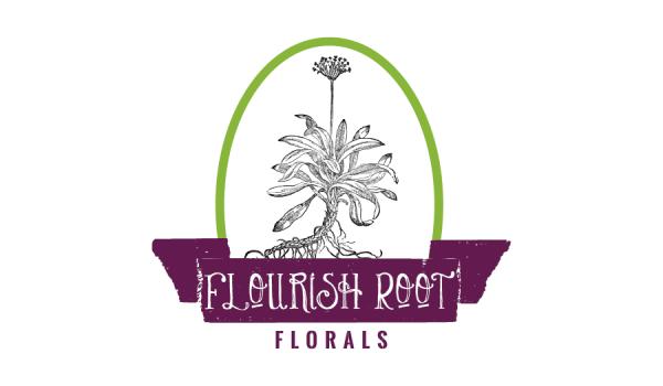 Logo design for Flourish Root Florals