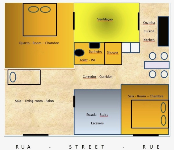 Plano do apartamento / Apartment plan