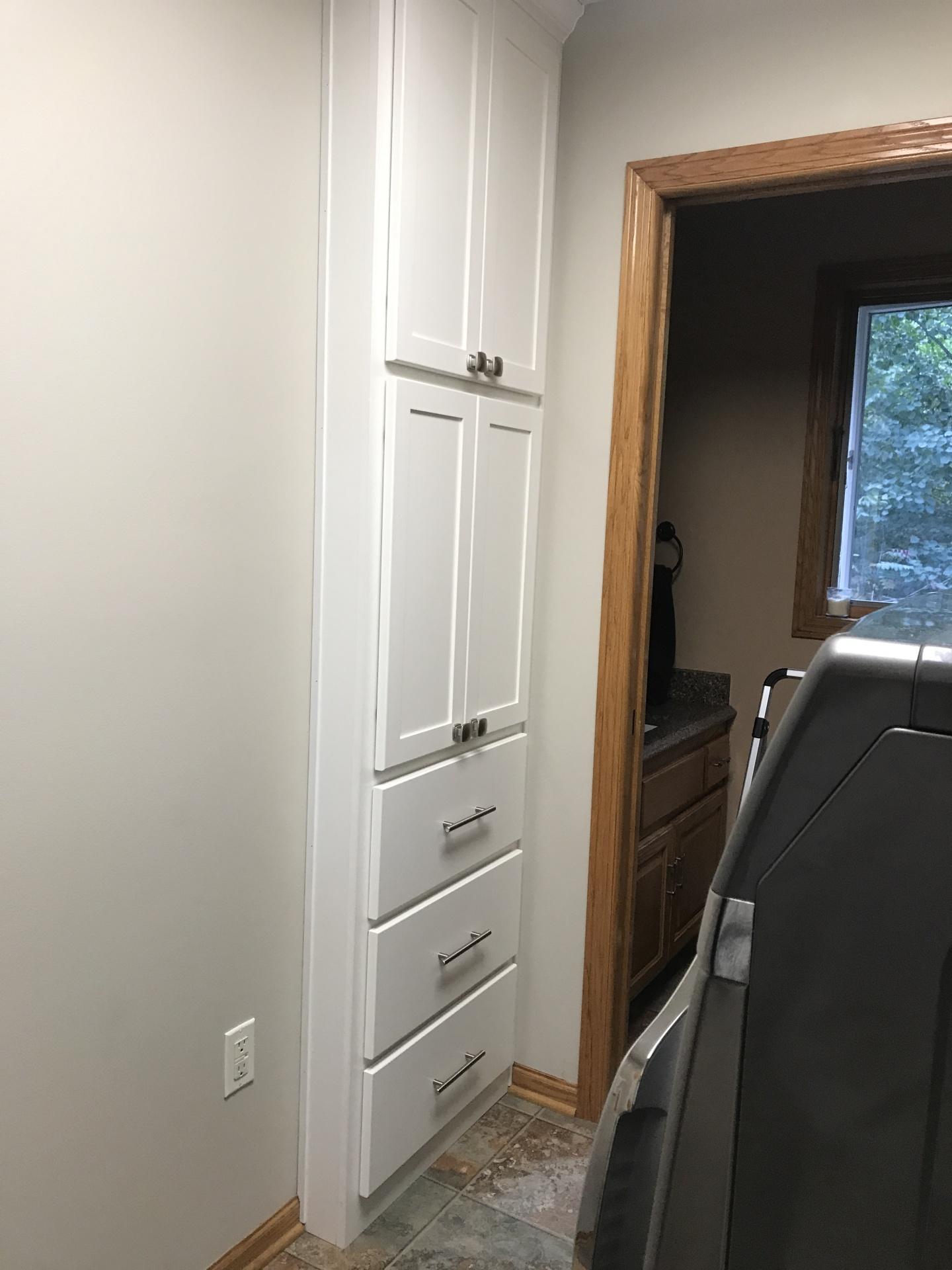 Built In Linen Closet
