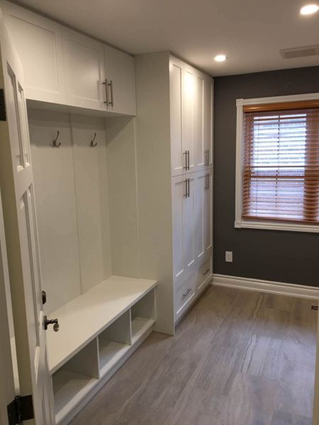 Mud room and bench