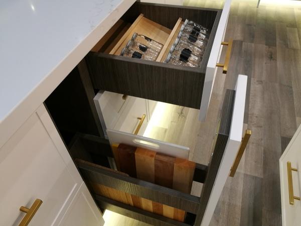 Cutting board storage design
