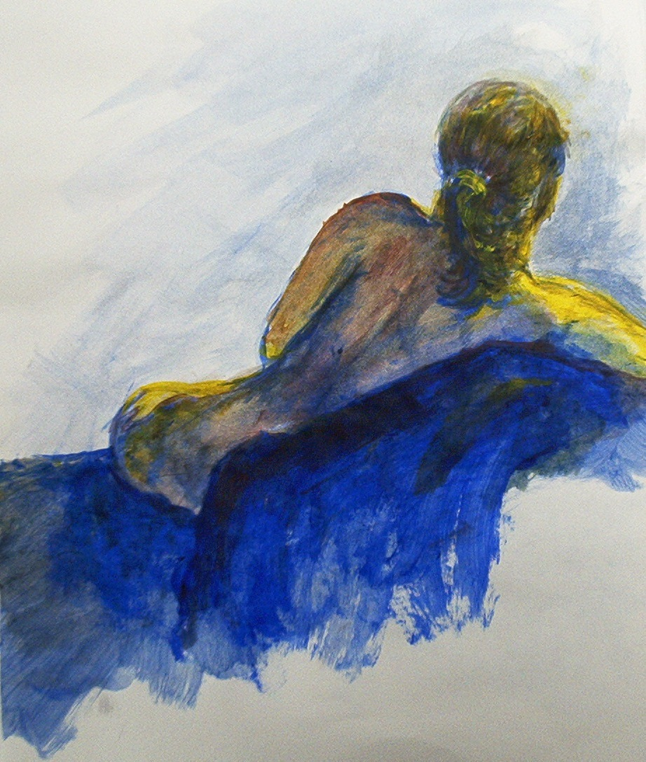Model in Red, Yellow and Blue