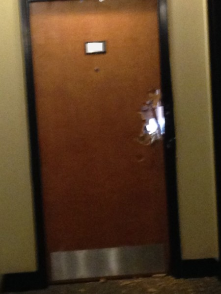 Door is shattered. What do your STUDENTS do?