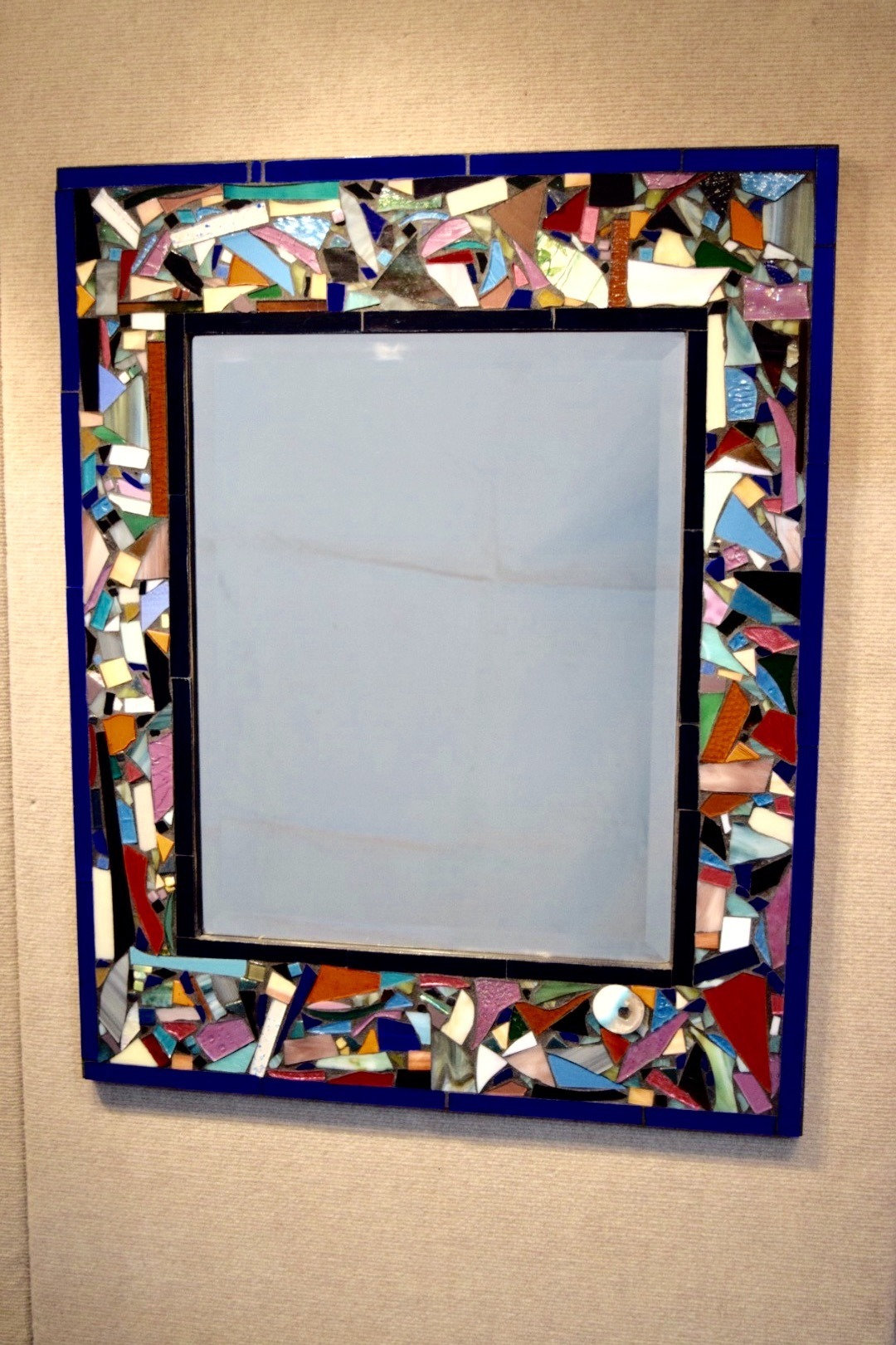 Abstract Stained Glass Mirror