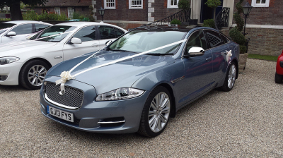 Blue Jaguar XJ
