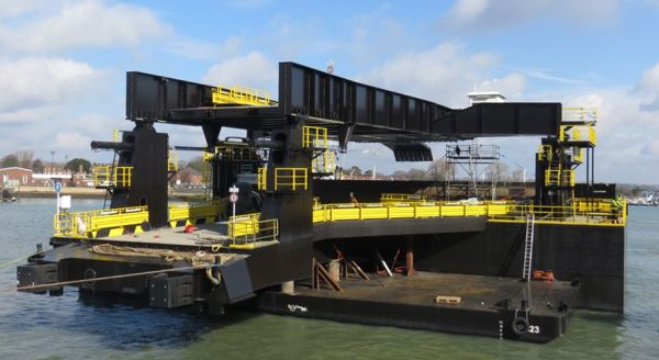 The PECS pilot of the Portsmouth International Port, the new linkspan, has been put into operation