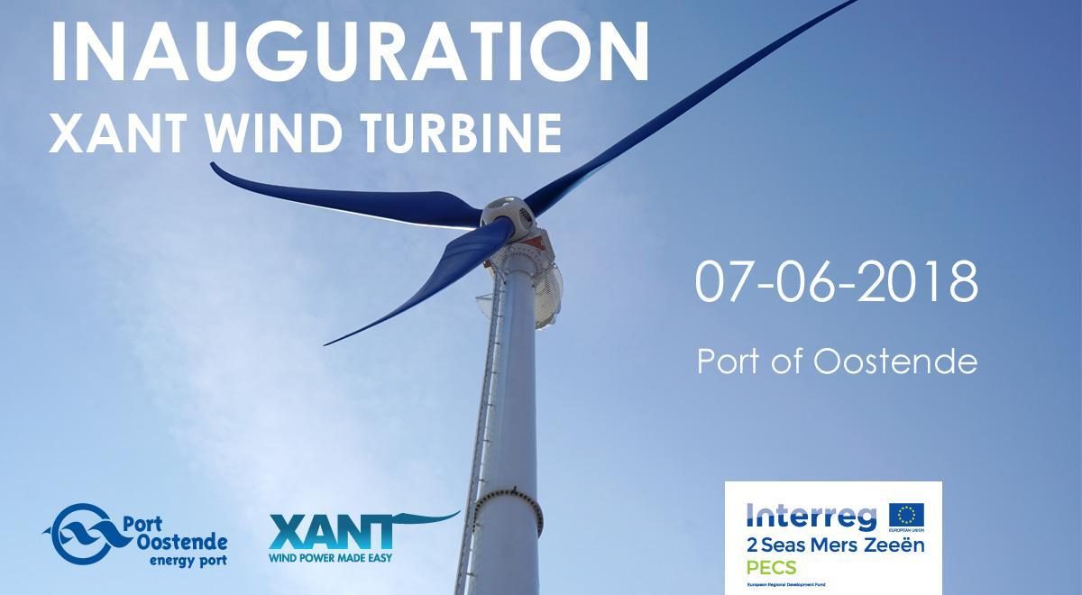 Save the date - Official opening of Xant medium sized wind turbine in the Port of Ostend on 7 June