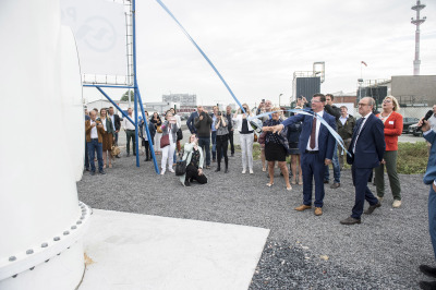 Official opening of Xant medium sized wind turbine in the Port of Ostend: an eye whitness report