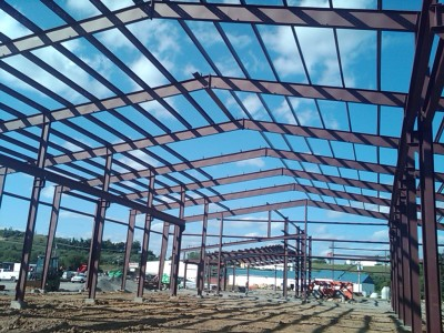 Steel Building Roof System, Metal Building Roof System, Ohio Steel Construction.