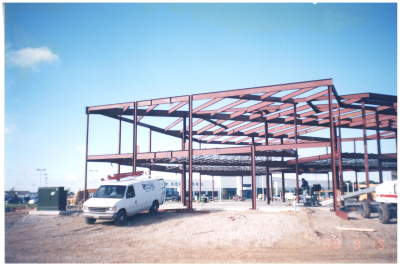 Ohio Steel Girts, Ohio Steel Construction Purlins, Red Iron, Metal Building Framing