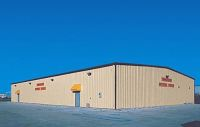 Pre-engineered steel community building, steel erector, metal building supply, commercial buildings