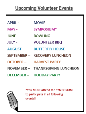 Monthly Volunteer Events