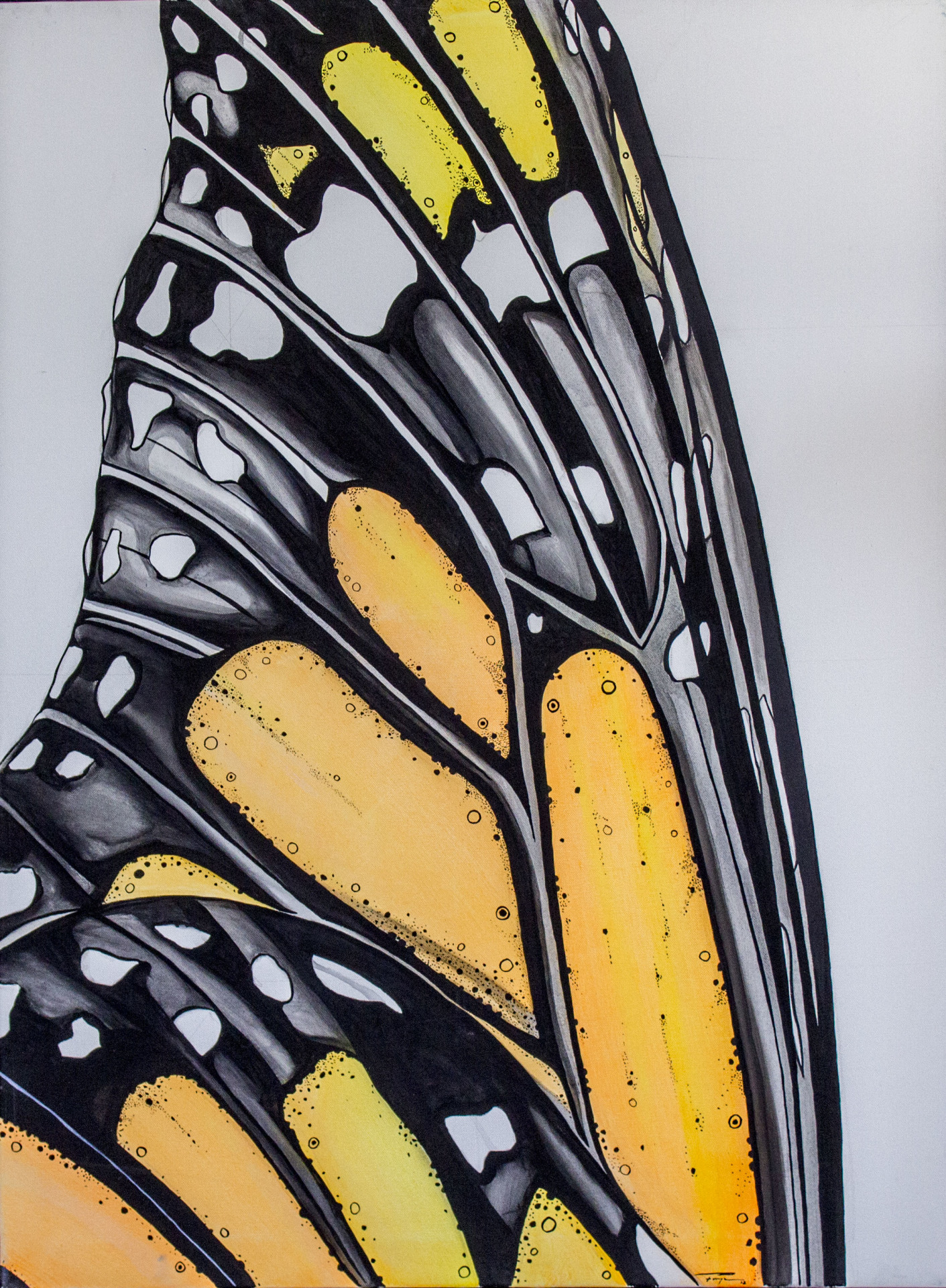 """Ala de Mariposa""  2012  Acrylic on Canvas    Price: $10,000"