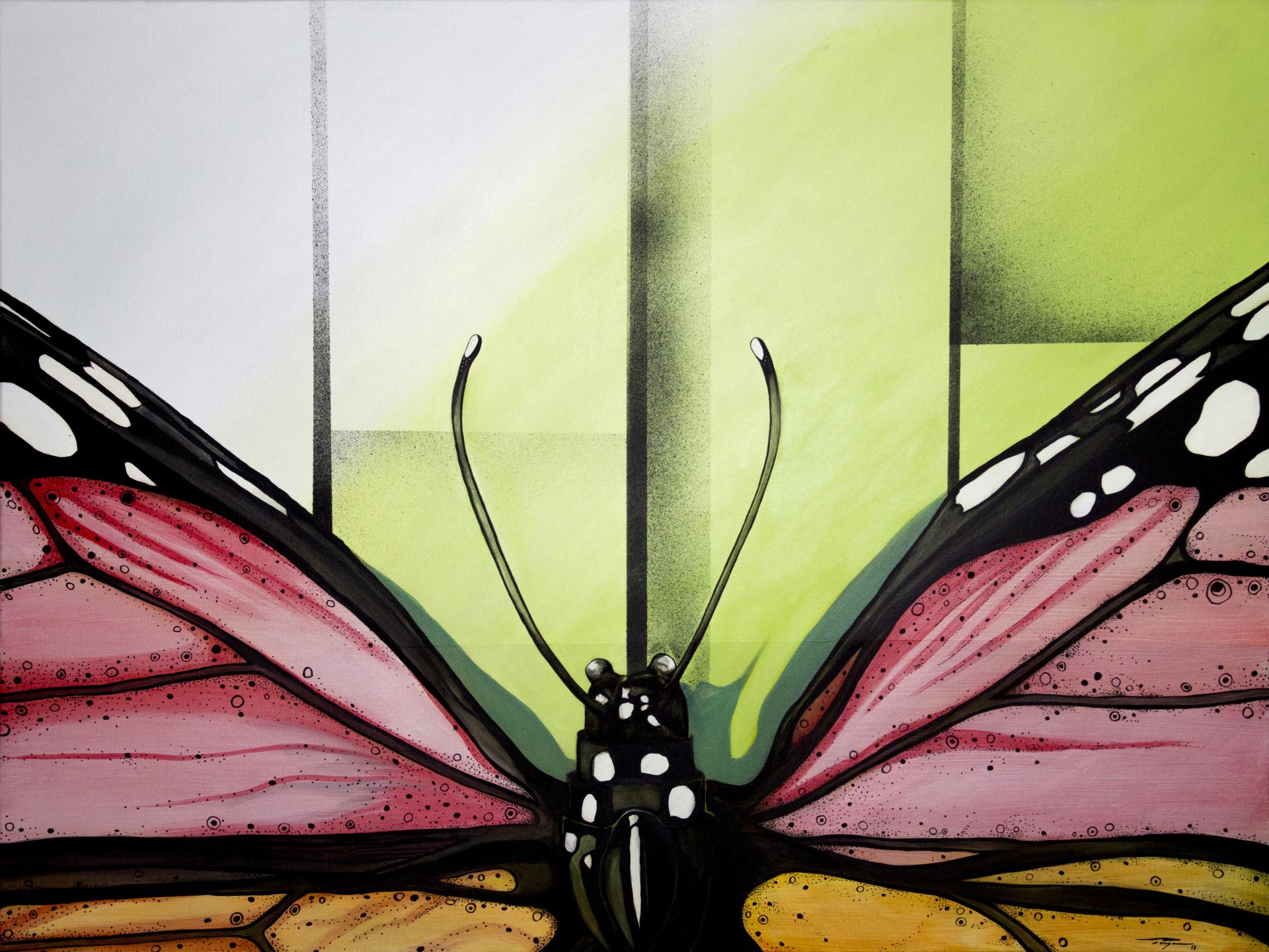 """Mariposa""  2012  48""x 36"" Acrylic on canvas   Price: $10,000"
