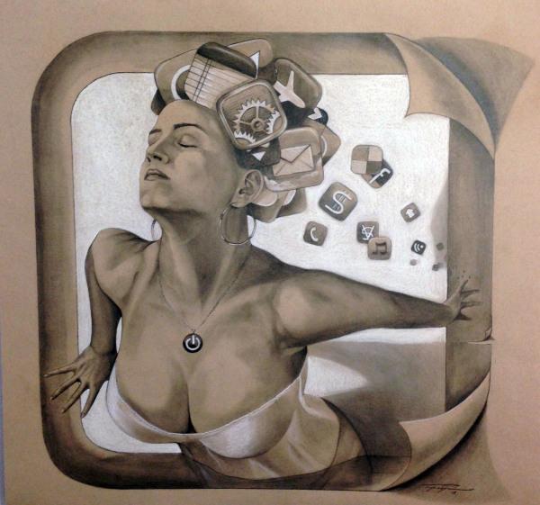 """Escape de pensamiento""  2013  Lapiz sobre papel   Price $ 6,500"