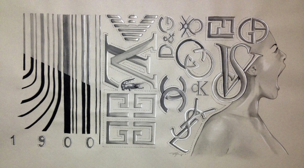 """""""Fragmentacion de la Identidad""""  2014  Lapiz sobre papel  Price: $ 7,500"""