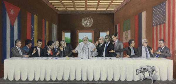 """""""La ultima esperanza""""  2015  4'x8' ft   Pastel sobre cartulina  $12,000"""